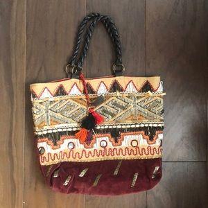 + ANTHROPOLOGIE + Beaded Tote Bag